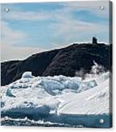 Ice And Surf Iv Acrylic Print by David Pinsent