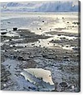 Ice And Waves Acrylic Print by Tim Grams