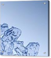 Ice Background With Copyspace Acrylic Print