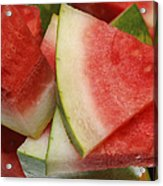 Ice Cold Watermelon Slices 2 Acrylic Print by Andee Design