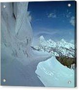 1m9340-ice Cornices, Jackson Hole Acrylic Print