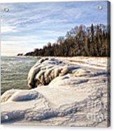 Ice Covered Shores Of Lake Michigan Acrylic Print