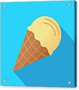 Ice Cream Cone Icon Flat Acrylic Print