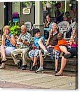 Ice Cream Eaters...an Observation Acrylic Print