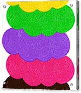 Ice Cream Shop 6 Scoops - Panorama Acrylic Print