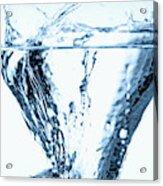 Ice Cube Splashing Into Water Acrylic Print