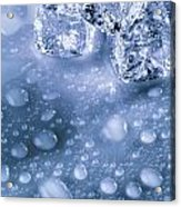 Ice Cubes With Copyspace Acrylic Print