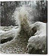 Ice Eruption Acrylic Print