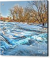 Ice Falls Acrylic Print