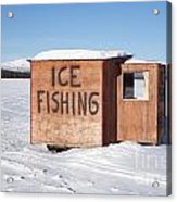 Ice Fishing Hut Acrylic Print