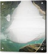Ice Floats In Shallow Lake With Rock Reflections Acrylic Print