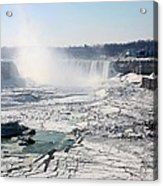 Ice Flows At Niagara Acrylic Print