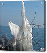 Ice Formation On Toronto Islands Acrylic Print