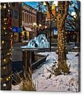 Ice Fountain Acrylic Print