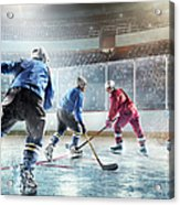 Ice Hockey Players In Action Acrylic Print