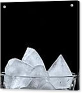 Ice In A Glass Acrylic Print