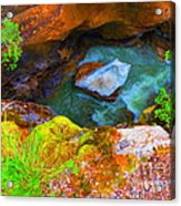 Ice In Canyon Acrylic Print