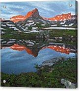 Ice Lakes Alpenglow Acrylic Print