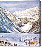 Ice Magic-lake Louise Winter Festival Acrylic Print
