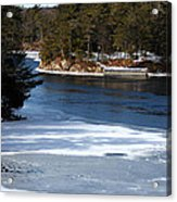 Ice On The St. Lawrence Acrylic Print
