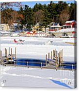 Planes On The Ice Runway In New Hampshire Acrylic Print