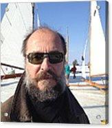 Ice Sailing On The Hudson Beard Contest Acrylic Print