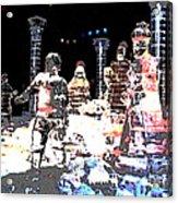 Ice Sculptured Nativity Scene Posterized Acrylic Print