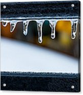 Ice Teeth On Colors Acrylic Print