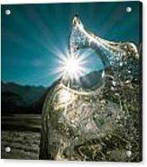 Ice With Sunburst Acrylic Print
