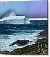 Iceberg Escape Acrylic Print by Barbara Griffin