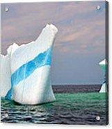 Iceberg Off The Coast Of Newfoundland Acrylic Print