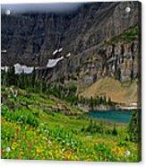Iceberg Park Tarn Glacier National Park Montana Acrylic Print