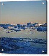 Icebergs Ahead Acrylic Print