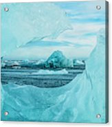 Icebergs On The Southern Beach Acrylic Print