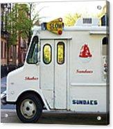 Icecream Truck On City Street Acrylic Print