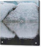 Iceland Fjallsjokull Glacier Reflects Acrylic Print