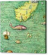 Iceland, From An Atlas Of The World In 33 Maps, Venice, 1st September 1553 Acrylic Print