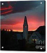 Icelandic Sunset Acrylic Print