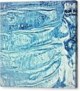 Icicle Abstract Triptych 2 Blue Acrylic Print by Marie Spence
