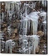 Icicle Cliffs Acrylic Print