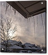 Icicles Hanging From Roof Acrylic Print