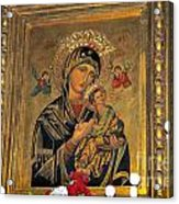 Icon In Marbella Church Acrylic Print