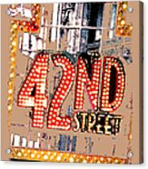 Iconic 42nd Street-nyc Acrylic Print by Linda  Parker