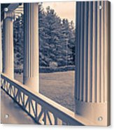 Iconic Columns On An Estate Acrylic Print