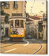 Iconic Lisbon Streetcar No. 28 Iv Acrylic Print