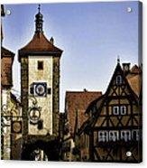 Iconic Rothenburg Acrylic Print