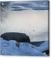 Icy Beach Acrylic Print
