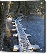 Icy Boardwalk Acrylic Print