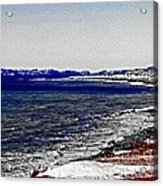 Icy Cold Seascape Digital Painting Acrylic Print