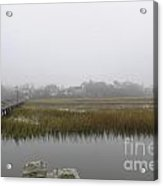 Icy Foggy Day Acrylic Print